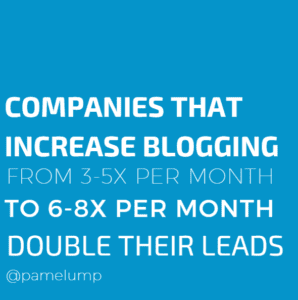 double leads with consistent blogging