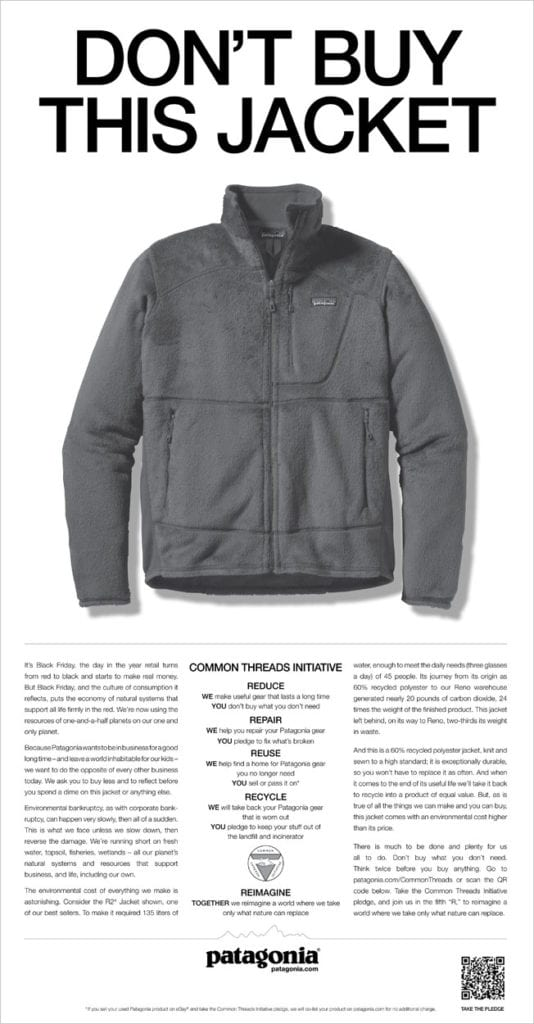 Don't Buy This Jacket Donation Campaign 2016